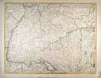 Deutschland Karte Schwaben, Franken, Süddeutschland