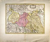 Zürich Karte des Zürichgaus
