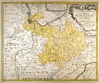 Basel Karte des Kanton Basel