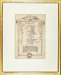 Getreide Preisliste 1817-1819 Handschrift