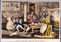 Tubulente Küchenszene in England