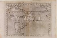 "Karte von Südamerika ""Tierra Nova"""
