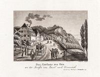 Basel Das Gasthaus zum Horn an der Strasse von Basel nach Grenzach