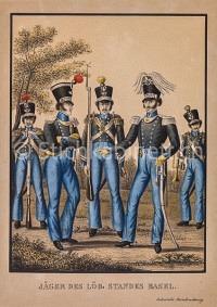 Militaria Jäger des Löb. Standes Basel