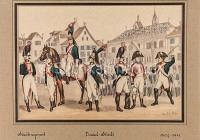 Militaria Stadtregiment vor dem Basler Rathaus 1804-1811