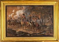 Militaria Darstellung eines Schlacht