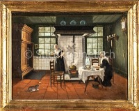 Holländisches Intérieur einer Küche
