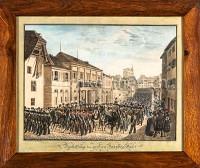 Basel Darstellung der grossen Parade in Basel 13.3.1831